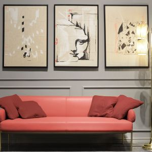 Energetyzujący Living Coral kolorem roku 2019. Na zdj. sofa Ginevra. Fot. Formitalia