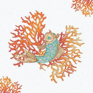 Energetyzujący Living Coral kolorem roku 2019. Na zdj. mozaika Royal Waves Coral Decor. Fot. Mosaico+