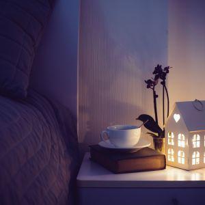 """Postawmy na lampki nocne z abażurami wykonanymi z tkanin w stonowanych kolorach. Drugim wariantem - zgodnym z chińską filozofią przepływu energii - są lampy z kloszami z """"mlecznego"""" szkła. Fot. 123rf"""