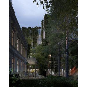 Premium Offices, Warszawa, Stelmach i Partnerzy Biuro Architektoniczne Sp. z o. o. Wokół Pałacyku Green Property Group stworzyło dostępny dla wszystkich ogród, zajmujący 1,3 tys. mkw. Fot. materiały prasowe