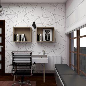 Pokój szary. Projekt i zdjęcia: Małgorzata Górska-Niwińska z Pracowni Architektonicznej MGN