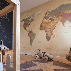 Pokój z mapą. Projekt i zdjęcia: Małgorzata Górska-Niwińska z Pracowni Architektonicznej MGN