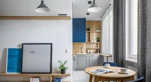 Małe, nieustawne pomieszczenia zamieniono w otwartą przestrzeń. Większość ścian wyburzono lub przesunięto, aby powiększyć łazienkę, połączyć kuchnię z salonem, stworzyć wygodny hol, garderobę i miejsce do pracy. Dzięki temu powstała ci