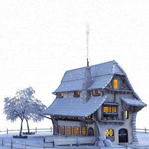 Oświetlenie domu na Boże Narodzenie. Fot. Pixabay