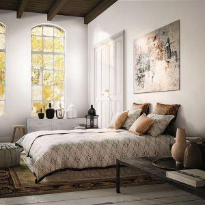 Białe ściany w sypialni. Fot. Magnat