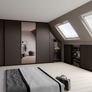 Sypialnia na poddaszu. Fot. Raumplus