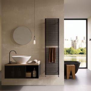 Pi&No to suszarka na ręczniki oraz grzejnik polecany do małych i średnich pomieszczeń; prosty, minimalistyczny design w szerokie palecie kolorów. Fot. Antrax IT