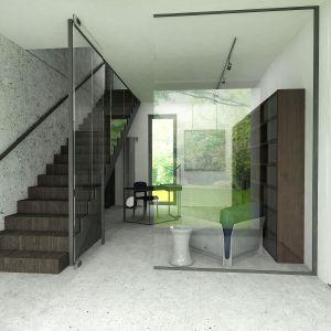 Dom w Piasecznie – ciepły modernizm.  Projekt i wizualizacje: Wyrzykowski Studio