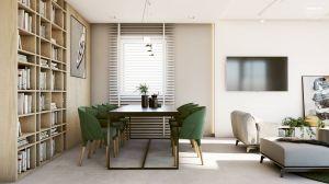 Chociaż punkt wyjścia w aranżacji tego mieszkania stanowił styl industrialny, projektantka stworzyła wnętrza, które z całą pewnością nie są surowe. Projekt i wizualizacje: Edyta Stań (Edycja Studio)