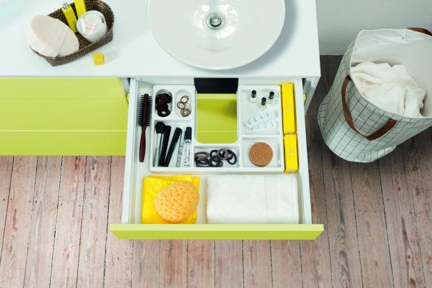 Przechowywanie w łazience - meble dobrze zorganizowane