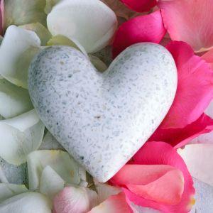 Fototapeta Serce z płatków róży. Fot. Pixers