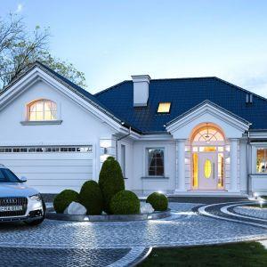 Dom na parkowej 6 to projekt dla 3-6-osobowej rodziny, o powierzchni 122 metrów, parterowy, ze strychem, który można zaadaptować łatwo i wykorzystać na poddasze użytkowe. Projekt: arch. Michał Gąsiorowski. Fot. MG Projekt