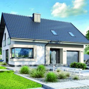 Dom, pomimo niewielkiego metrażu – niespełna 110 metrów kwadratowych – jest elegancki i ma szereg praktycznych rozwiązań. Dom w Zdrojówkach. Fot. Archon +