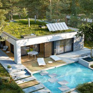EX 21 G2 soft to dom, który stawia na oszczędną prostotę. Zwarta, energooszczędna forma, szerokie przeszklenia oraz wnętrze pełne naturalnego światła. Projekt: Artur Wójciak. Fot. Pracownia Projektowa Archipelag