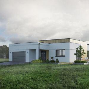 Alibi to dom jednorodzinny o powierzchni blisko 130 metrów kwadratowych, przeznaczony dla 4-osobowej rodziny. Istnieje w nim wyraźny podział na część dzienną, nocną i gospodarczą. Wyróżnia go ciekawa, nowoczesna bryła. Projekt: arch. Tomasz Sobieszuk. Fot. Biuro Projektów MTM Styl/Domy w stylu