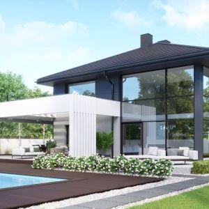 HomeKONCEPT 60 to dom w kształcie nowoczesnej willi o powierzchni użytkowej 230 metrów kwadratowych. Będzie z pewnością komfortowym mieszkaniem dla współczesnej rodziny.Opracowanie projektu i zdjęcia: Pracownia HomeKONCEPT