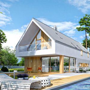 EX 20 G2 Energo Plus to świetna propozycja dla inwestorów, którzy posiadają wąską działkę i marzą o nowoczesnym domu w harmonii z ogrodem. Poznajcie projekt, który zaskoczy Was swoją przestronnością i słonecznym klimatem. Dom EX 20 G2 Energo Plus. Projekt: arch. Artur Wójciak. Fot. Pracownia Projektowa Archipelag