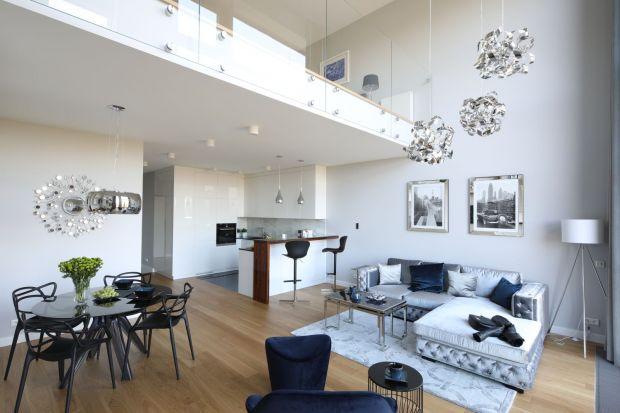 Dwupoziomowe mieszkanie - nowoczesne i szykowne
