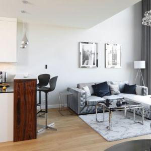 Szykowny wystrój mieszkania budują gustowne dodatki i akcesoria w nowojorskim stylu. Projekt: Katarzyna Mikulska-Sękalska. Fot. Bartosz Jarosz
