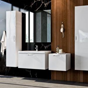 Aranżacja łazienki - nowoczesne meble łazienkowe. Kolekcja Flou. Fot. Elita