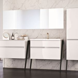 Aranżacja łazienki - nowoczesne meble łazienkowe. Kolekcja OP-Arty. Fot. Elita