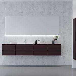 Aranżacja łazienki - nowoczesne meble łazienkowe. Kolekcja Guadix. Fot. Elita