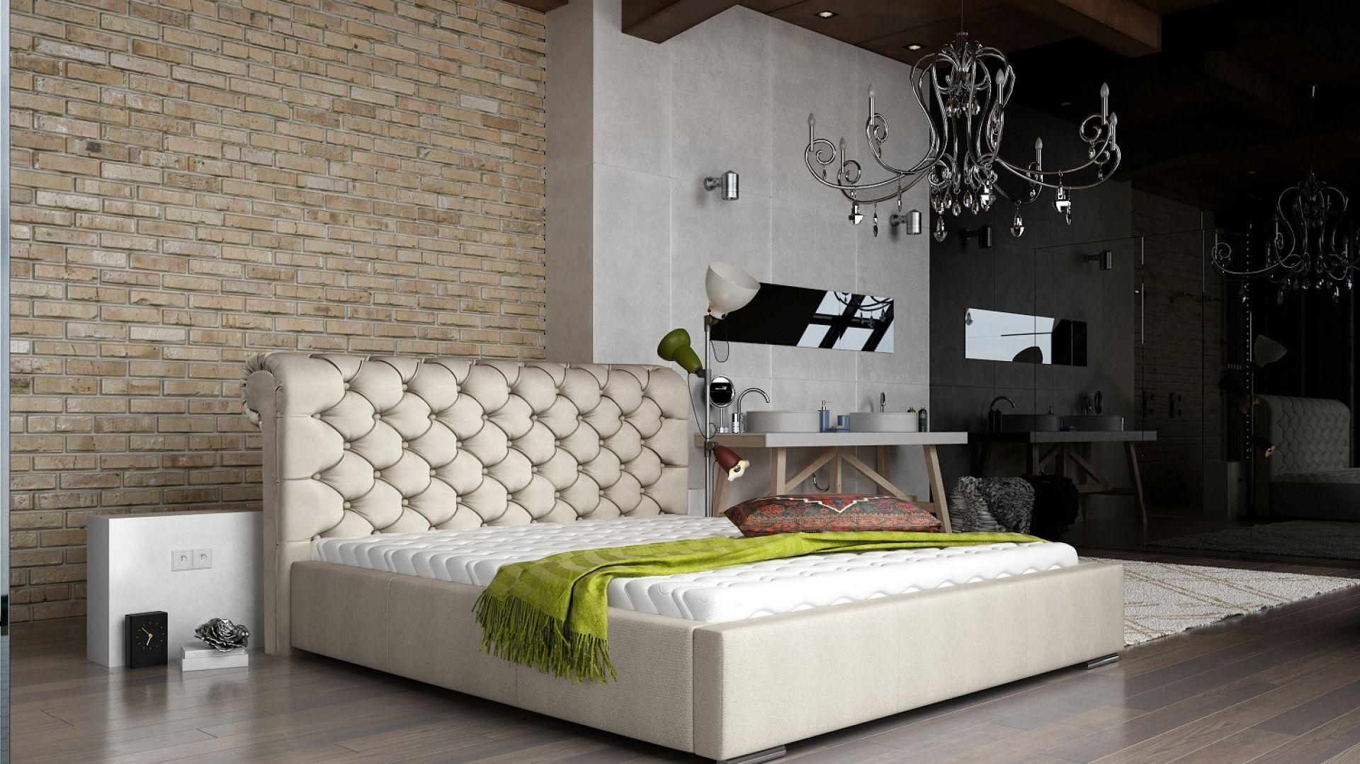 Łóżko tapicerowane Manchester marki Comforteo. Fot. Comforteo