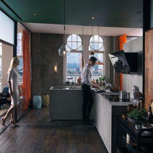 Linię urządzeń kuchennych Mythos Frames by Franke tworzą okap, płyta indukcyjna i piekarnik do zabudowy. To synergia nowoczesnego wzornictwa i zaawansowanej technologii. Fot. Franke