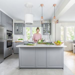 Kuchnia dla rodziny. Projekt: Dorota Kudła-Kubrakiewicz. Fot. Marta Behling