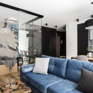 Nowoczesny salon - najpiękniejsze wnętrza 2018 roku. Projekt: Anna Maria Sokołowska. Fot. Foto&Mohito