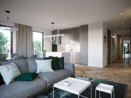 """Apartament pasuje do właścicieli jakby został skrojony na miarę. Jest nowoczesny, wyważony, ale z drapieżnym """"pazurem"""". Projekt: JMW Architekci"""