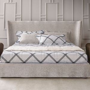 Łóżko tapicerowane Vanity marki Casamilano. Fot. Casamilano/ Mood Design