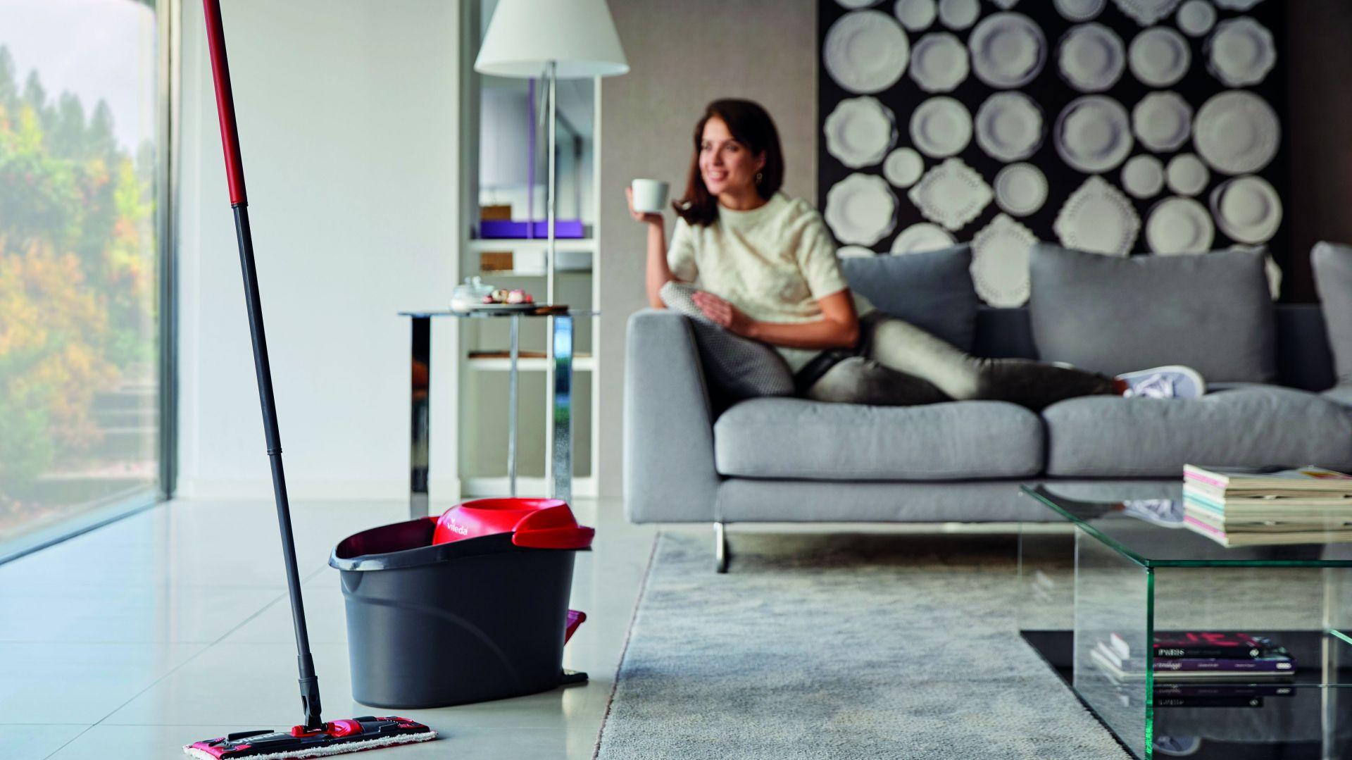 Nowy sprzęt zmieni nastawienie do sprzątania; na zdj. mop obrotowy Ultramat Turbo. Fot. Vileda