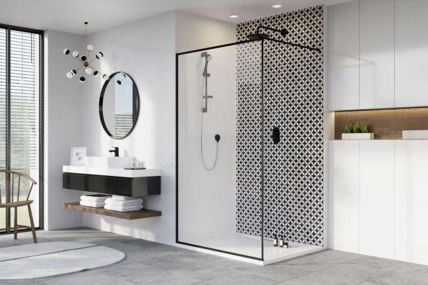 Modna łazienka - kabiny w wersji czarny mat