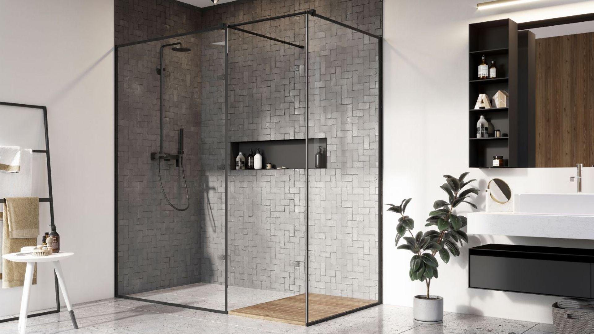Modna łazienka Kabiny W Wersji Czarny Mat