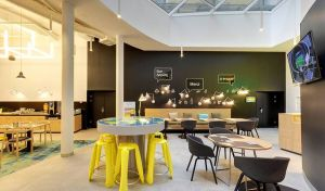 Wnętrza hotelu Ibis Styles Center w Budapeszcie. Projekt: Tremend. Fot. Tremend