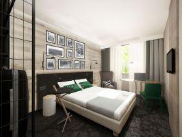 Wizualizacja wnętrza hotelu Ibis Styles w Tomaszowie Lubelskim. Projekt i wizualizacja: Tremend.