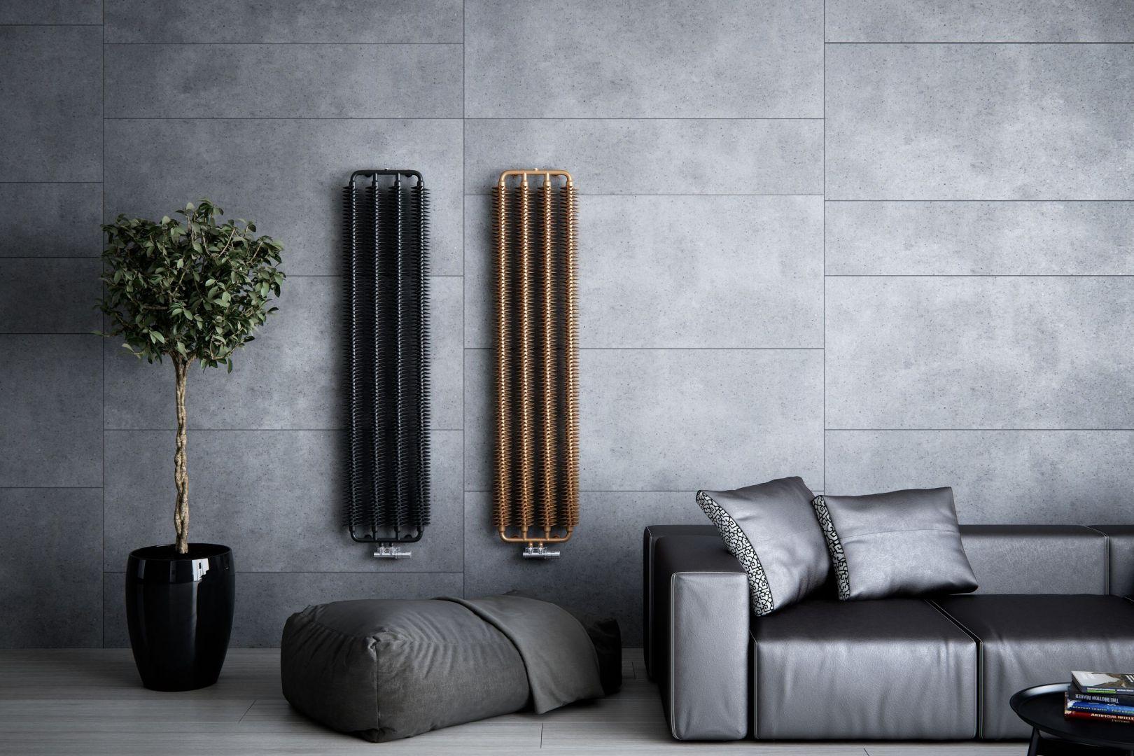 Utrzymany w industrialnym stylu loft grzejnik Ribbon V dostępny w wersji horyzontalnej i wertykalnej, wodnej i elektrycznej. Fot.Terma