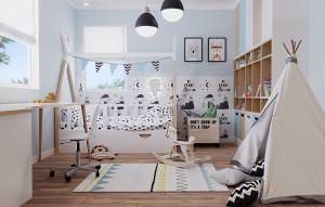 Pokój dziecka. Projekt i wizualizacja: Ewelina Przewodowska-Ryłka (TETE concept)