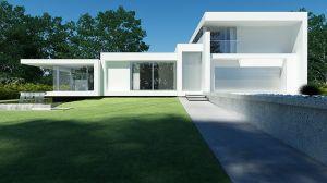 Glass House - dom jednorodzinny. Projekt i wizualizacja: Beton House