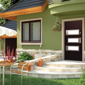 Drzwi Argali pokryte fornirem naturalnym z oferty firmy Pol-Skone. Fot. Pol-Skone