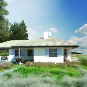 Dom został zaprojektowany jako mały domek wakacyjny z myślą o weekendowych wypadach na działkę poza miasto i jako domek plażowy, ale równie dobrze może służyć do stałego zamieszkania dla niewielkiej rodziny. Doskonale wpisze się w wiejski krajobraz nad morzem, nad rzeką , blisko jeziora. Pow. użytkowa 86 m2, koszt budowy - ok. 150.000. Dom S24. Projekt. arch. Sylwia Strzelecka. Fot. S&O Projekty Sylwii Strzeleckiej