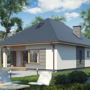 Niewielki dom jednorodzinny z poddaszem do adaptacji. Powierzchnia użytkowa: 59,64 m2 ; koszty budowy: ok. 134.000 zł. Dom D148B. Projekt: Krzysztof Wolski. Fot. Artinex