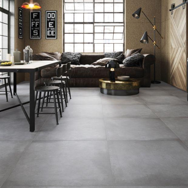 Wnętrza w stylu loft - na podłodze sprawdzi się gres