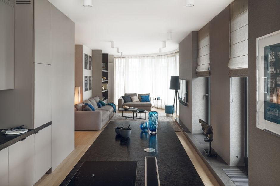 Przestronny, elegancki apartament - jak z dwóch mieszkań zrobić jedno