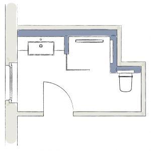 Pomysł na 8-metrowa łazienkę. Fot. Tece
