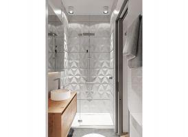 Dzięki połączeniu bieli i drewna wnętrza zyskały przytulny, nowoczesny charakter. Projekt: The Space