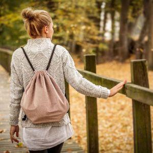 Pomysł na walentynkowy prezent: plecak-worek. Fot. Dekoria.pl