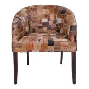 Dekoracje i dodatki w stylu industrialnym: skórzany fotel House nordic Hakim, cena: 2329 zł. Fot. Bonami.pl