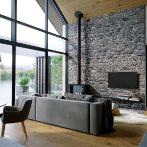 Wnętrze domu zostało zaprojektowane w taki sposób, aby mogło w nim komfortowo przebywać aż 6 osób. Dom HomeKONCEPT 66. Projekt i zdjęcia: HomeKONCEPT